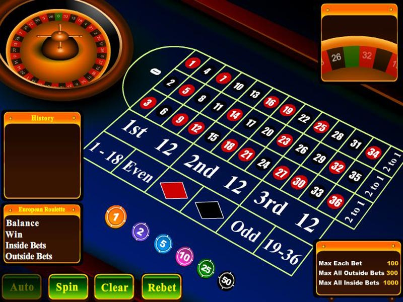 Click to view European Roulette 2.1 screenshot